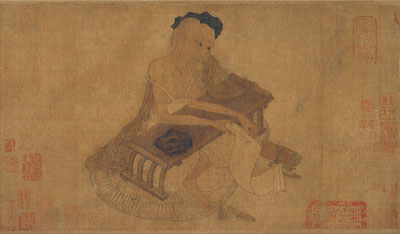 Attributed to Wang Wei (699–759), Fu Sheng Transmitting the Classic, China, Tang dynasty, 8th century, Important Cultural Property, Osaka City Museum of Fine Arts