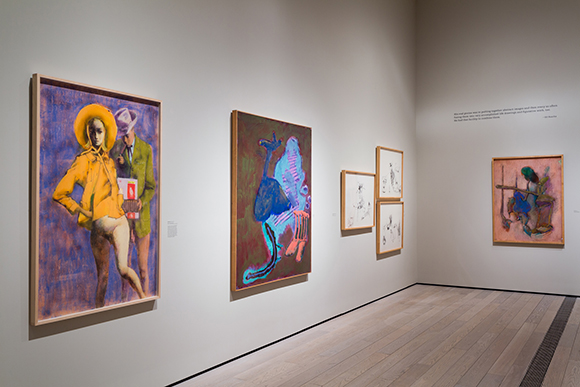 "Installation view, ""John Altoon,"" June 8, 2014-September 14, 2014, Los Angeles County Musuem of Art, © 2014 Estate of John Altoon. 