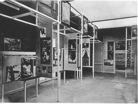 "The Russian Room at the 1929 ""FiFo"" exhibition in Stuttgart."
