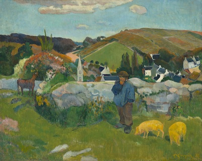 Paul Gauguin, Swineherd (detail), 1888, gift of Lucille Ellis Simon and family in honor of the museum's twenty-fifth anniversary
