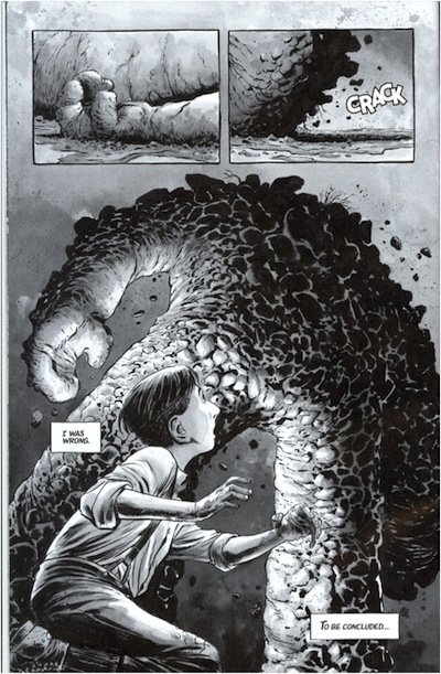 Dave Wachter (illustrator), United States, born 1975, Steve Niles (writer), United States, born 1965, Matt Santoro (writer), United Stated, born 1976, Page from Breath of Bones: A Tale of the Golem, no. 2 (July 2013), Offset lithography, Private collection, Los Angeles © 2013 Steve Niles, Matt Santoro, & Dave Wachter.