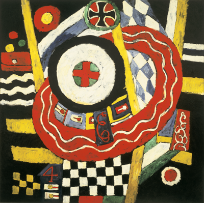 Marsden Hartley, The Iron Cross, 1915, oil on canvas, 47 ¼ × 47 ¼ inches, Mildred Lane Kemper Art Museum, Washington University in St. Louis; university purchase, Bixby Fund, 1952
