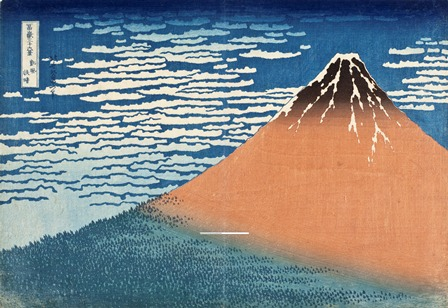 Katsushika Hokusai, South Wind, Clear Dawn, circa 1830-31, gift of the Frederick R. Weisman Company, Photo © 2013 Museum Associates/LACMA