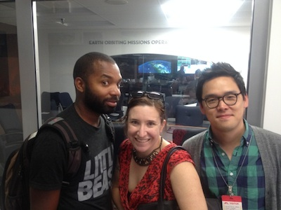 Tavares Strachan, Rachel Sussman, and E Roon Kang at Jet Propulsion Labs