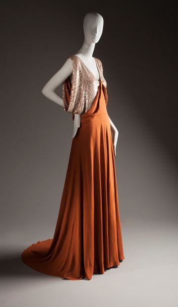 Jeanne Lanvin, Woman's Evening Dress, c. 1935, purchased with funds provided by Ellen A. Michelson, photo © 2012 Museum Associates/LACMA. All rights reserved