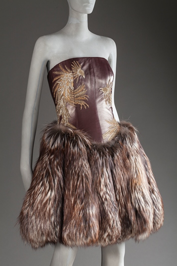 Alexander McQueen, Woman's Dress, Fall 2007, purchased with funds provided by Ellen A. Michelson, photo © 2012 Museum Associates/LACMA. All rights reserved