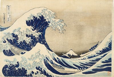 Katsushika Hokusai, The Great Wave off Kanagawa, c. 1830–31, gift of the Frederick R. Weisman Company