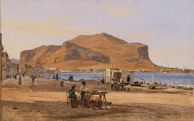 Martinus Rørbye, Palermo Harbor with a View of Monte Pellegrino, 1840, oil on canvas, Gift of the 1990 Collectors Committee