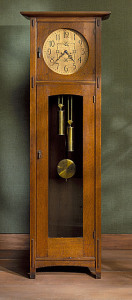 L. and J. G. Stickley, Tall Case Clock, circa 1906-1912, gift of Max Palevsky and Jodie Evans