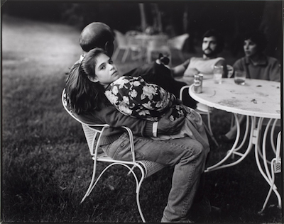 Sally Mann, Untitled (Man on Lawn Chair with Girl in His Lap), 1985, printed 1985, The Marjorie and Leonard Vernon Collection, gift of The Annenberg Foundation, acquired from Carol Vernon and Robert Turbin, © Sally Mann, courtesy Gagosian Gallery