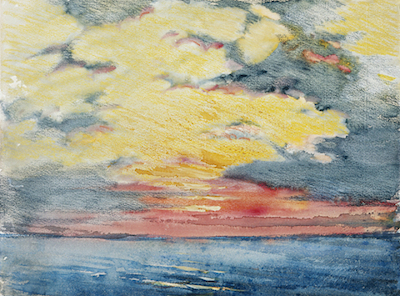 Joseph Pennell, Sunset, Acapulco, c. 1912, Mr. and Mrs. William Preston Harrison Collection