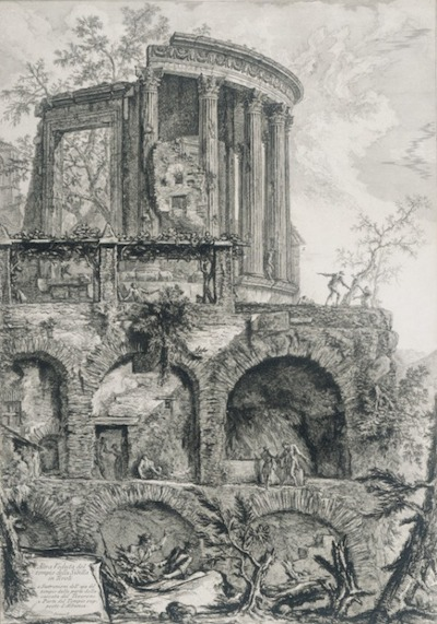 Giovanni Battista Piranesi, Another view of the Temple of the Sibyl in Tivoli, c. 1761, gift of Mr. and Mrs. M. F. Grollman