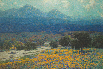 Granville Redmond, California Poppy Field, c. 1926, gift of Raymond Griffith
