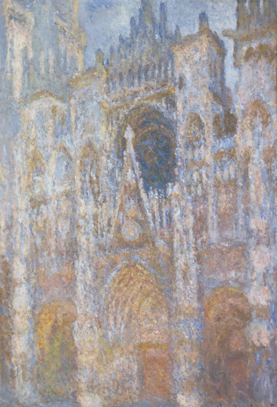 Monet, Claude, Rouen Cathedral, the portal. Morning Sun, Blue Harmony, 1893, Oil on canvas, 91 x 63 cm, Musee d'Orsay, Paris, France (Inv. RF2000), Photo courtesy Réunion des Musées Nationaux by Thierry Le Mage/Art Resource, NY.