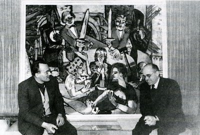 Peter Beckmann and Hildebrand Gurlitt at the 1950 exhibition