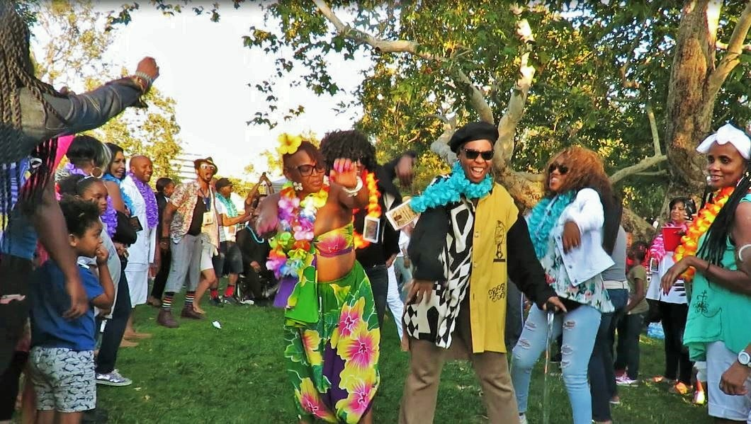 Picnic guests dance in the Soul Train line, photo courtesy of Juliette Hagerman