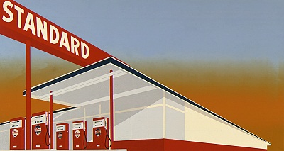 Ed Ruscha And The Standard Gas Station Unframed