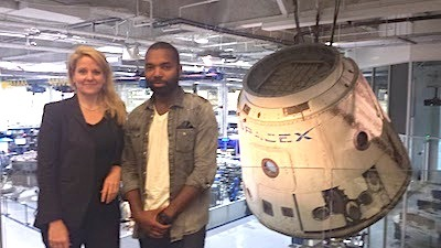 Gwynne Shotwell and Tavares Strachan at SpaceX