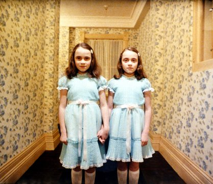 The Shining, directed by Stanley Kubrick, 1980, The daughters of Grady (Lisa and Louise Burns). © Warner Bros. Entertainment Inc.