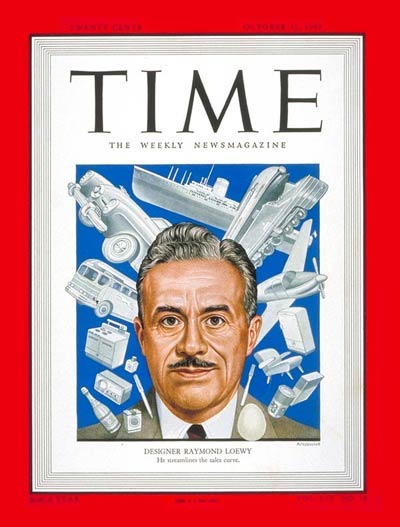 Raymond Loewy on the cover of Time magazine, October 31, 1949