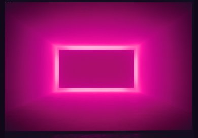 James Turrell, Raemar Pink White, 1969, Shallow Space, Collection of Art & Research, Las Vegas, Installation view at Griffin Contemporary, Santa Monica, CA, 2004, © James Turrell, photo by Robert Wedemeyer, courtesy Kayne Griffin Corcoran, Los Angeles