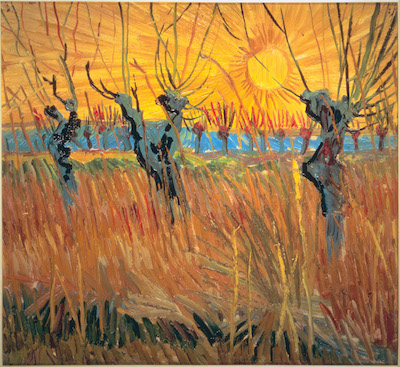 Vincent Van Gogh, Pollard Willows at Sunset, Arles (Saules au coucher du soleil, Arles), 1888, Kröller-Müller Museum, Otterlo, The Netherlands, Photo Credit: Art Resource, NY