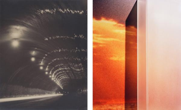 Left: Shinsaku Izumi, Tunnel of Night, 1931; Right: Anthony Lepore, Sunrise from the series New Wilderness, 2010