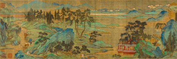 Qiu Ying, The Jiucheng Palace (detail), Ming dynasty