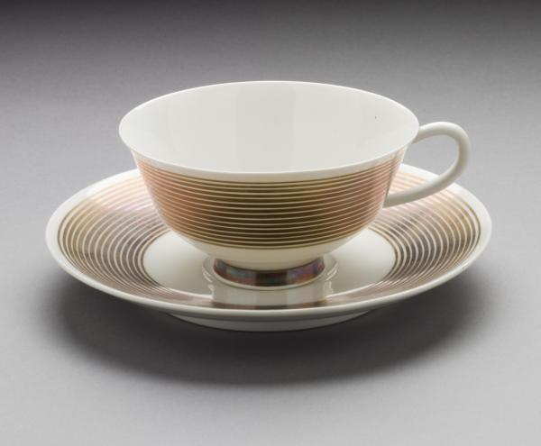 Marguerite Wildenhain, form designer and Trude Petri, decoration designer, Teacup and Saucer, 1929-30