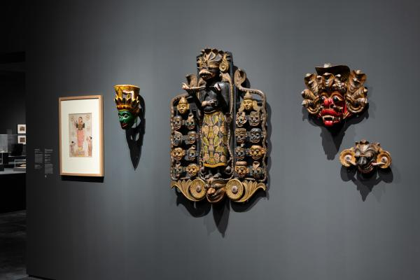 Installation photograph, The Jeweled Isle: Art from Sri Lanka, Los Angeles County Museum of Art, December 9, 2018–June 23, 2019