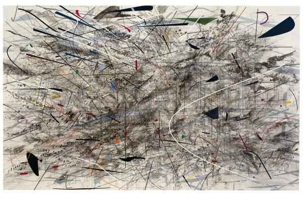 Julie Mehretu, Black City, 2007
