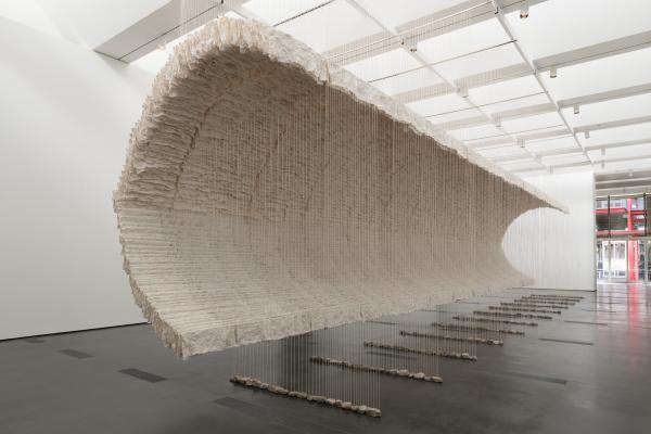 Installation photograph, Zhu Jinshi, Wave of Materials, 2007/2019