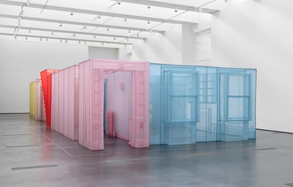 Doh Ho Suh installation of colorful apartment layout