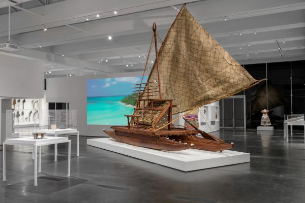 Installation photograph, Fiji: Art & Life in the Pacific, Los Angeles County Museum of Art