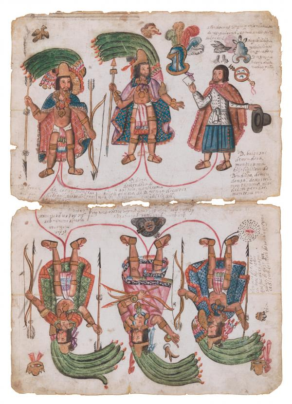 Paper featuring three figures