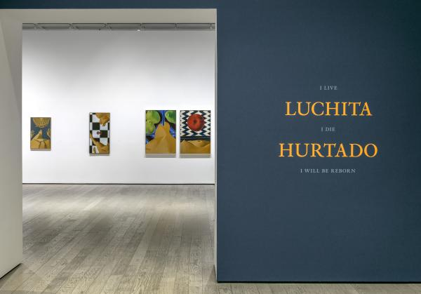 image of entrance to LACMA's exhibition Luchita Hurtado: I Live I Die I Will Be Reborn