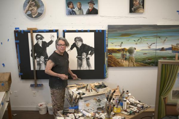 Eloy Torrez in his Los Angeles studio