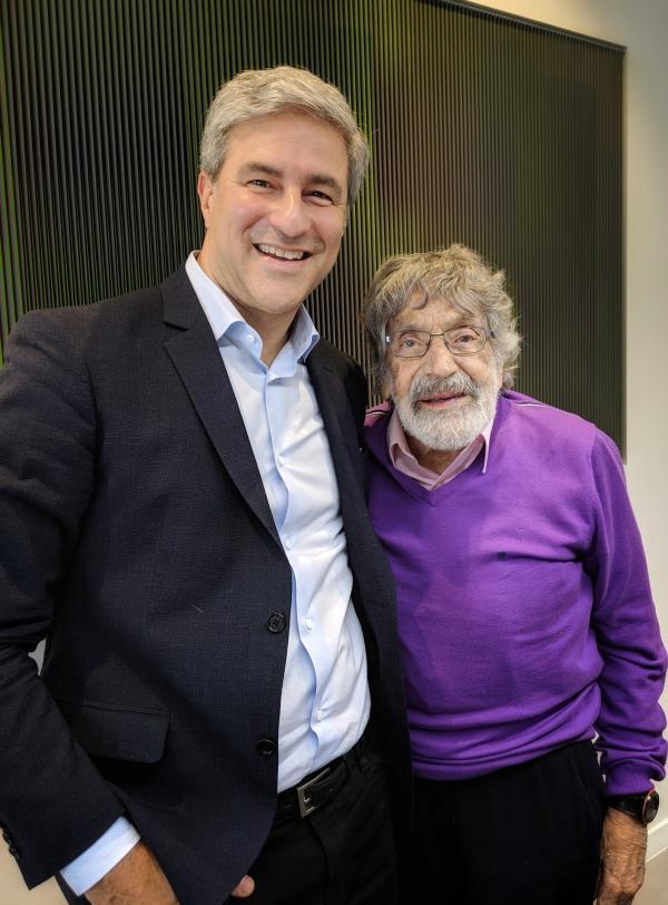 Michael Govan and Carlos Cruz-Diez