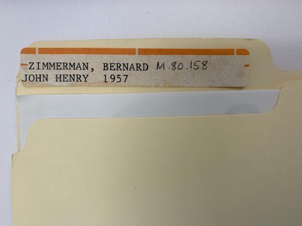 Object file for Bernard Zimmerman's John Henry (1957)