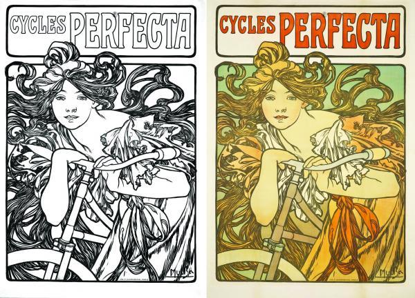 Alphonse Mucha, Cycles Perfecta, 1897