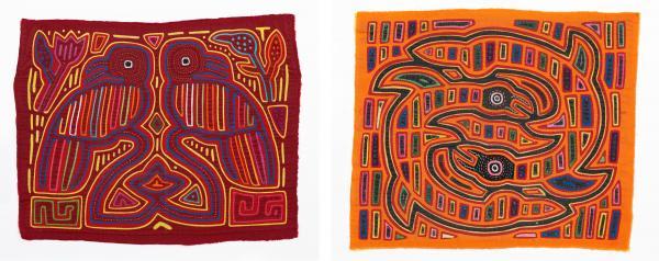 Mola (Textile Panel) with Mirror Image of Parrots, Panama, San Blas, Kuna People, last quarter of 20th century