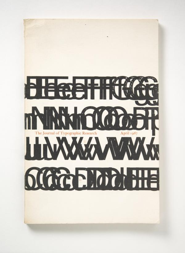 Jack Werner Stauffacher, Journal of Typographic Research, designed 1966–67, this issue April 1967