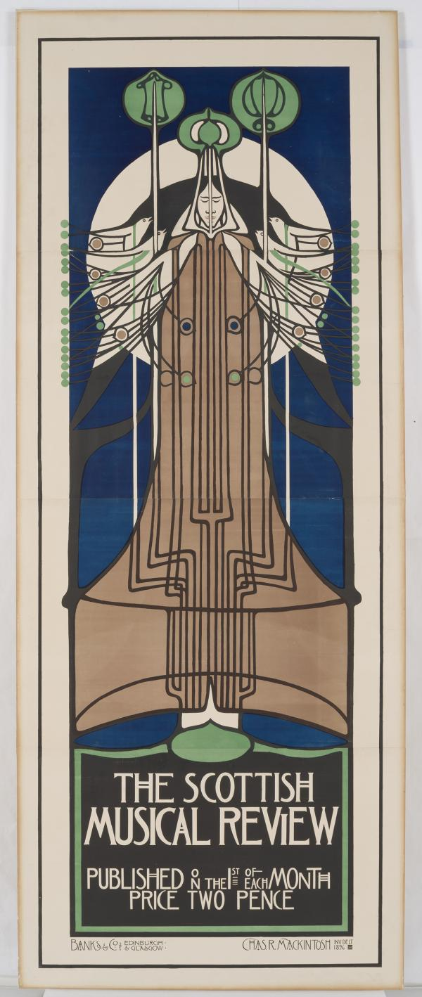 Charles Rennie Mackintosh, Poster for The Scottish Musical Review, 1896