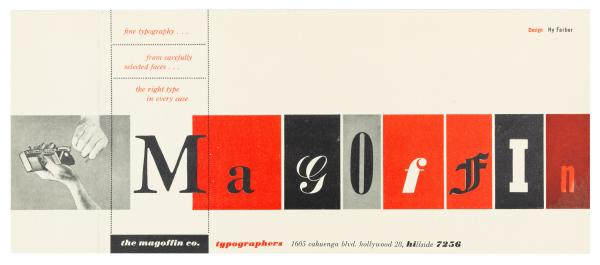 Hy Farber, Promotional cards for The Magoffin Co., Typographers, 1950s