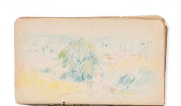 Berthe Morisot, Sketchbook (Landscape), c. 1891–93