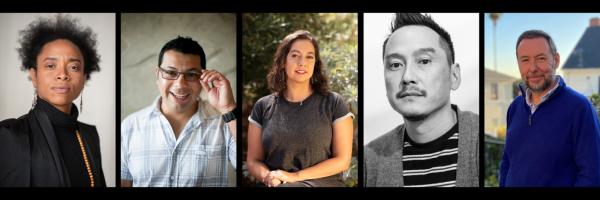 Headshots of five artists