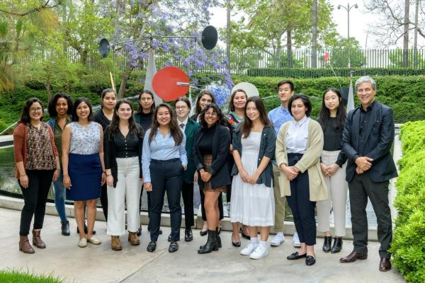 LACMA director and Wallis Annenberg CEO Michael Govan with the 2019 Mellon Summer Academy participants