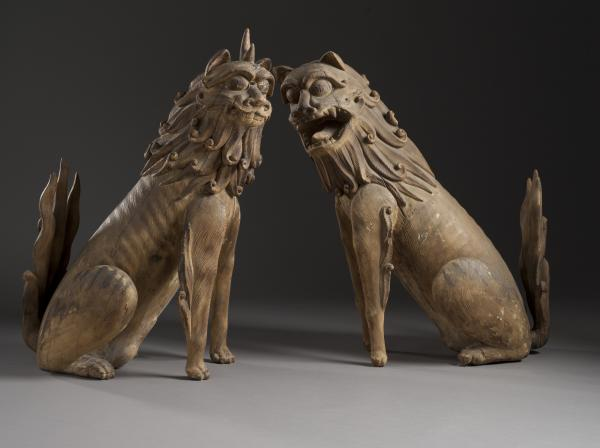 Pair of Guardian Lions, Japan, 10th century