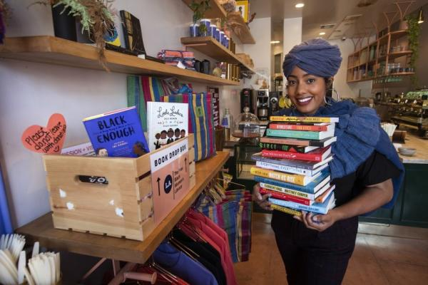 Asha Grant, Director of the Free Black Women's Library - LA, image credit: Mel Melcon LA Times