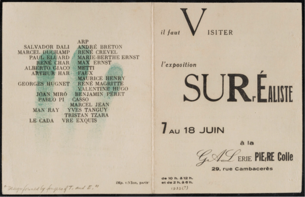 surrealist research paper Convening what they called the congress of paris, they tried to spread their ideas further by opening a bureau of surrealist research,.